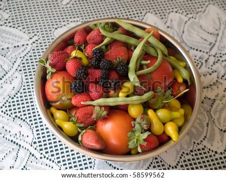 Fresh garden produce - stock photo