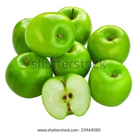 Fresh Granny Smith apples - stock photo