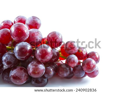 fresh grape on white background, Fruit - stock photo