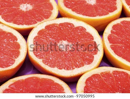 fresh grapefruit background