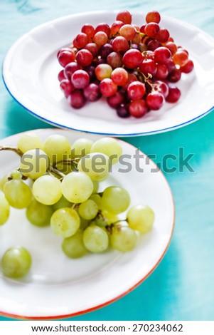 fresh grapes - stock photo