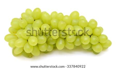 fresh grapes fruits isolated on white background - stock photo