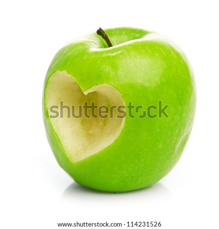 Fresh green apple - stock photo