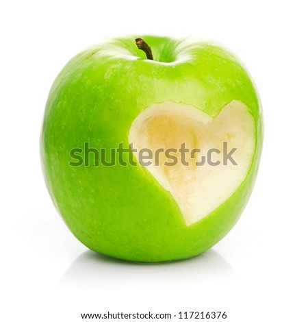 Fresh green apple - stock photo