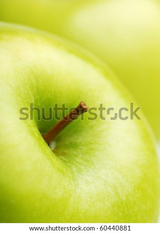 fresh green apple close-up - stock photo
