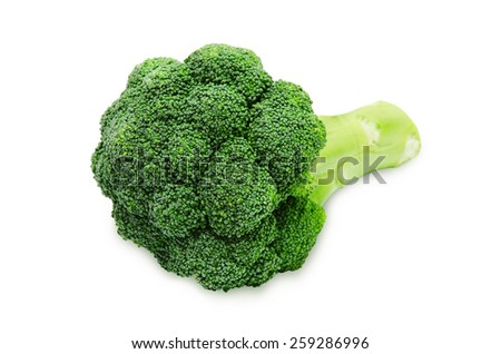 Fresh green broccoli isolated on a white background - stock photo
