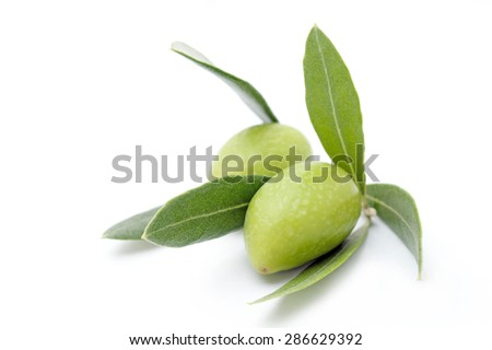 Fresh Green Olives - stock photo