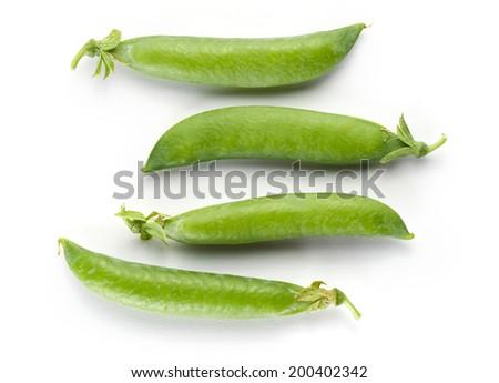 Fresh green peas - stock photo