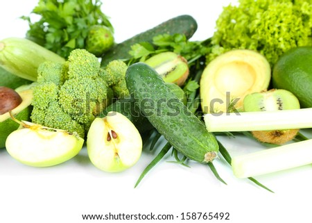 Fresh green vegetables, close-up - stock photo