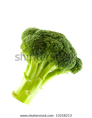 Fresh green vegetables, isolated on white - stock photo