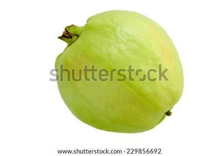 Fresh guava fruit on white background. - stock photo