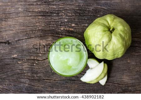 fresh guava juice - stock photo