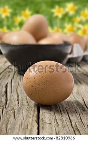 Fresh healthy farm eggs ready to be cooked