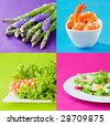 fresh healthy food set - stock photo