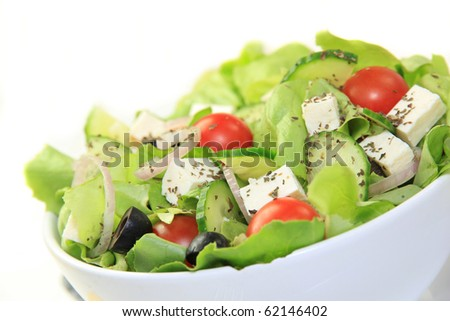 Fresh healthy garden salad - stock photo