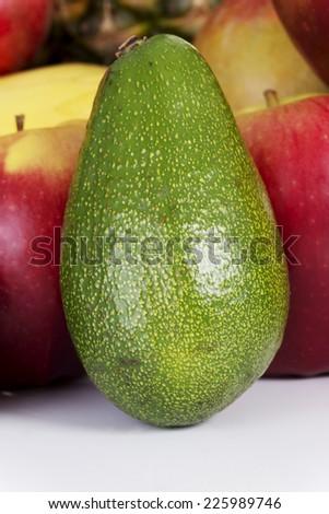 Fresh healthy juicy green avocado - stock photo