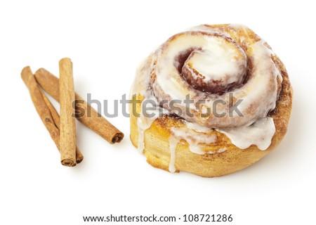 Fresh Homemade Cinnamon Rolls made for breakfast - stock photo