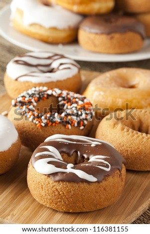 Fresh Homemade Donuts against a background