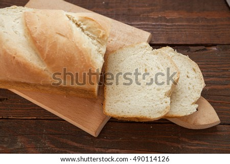 Fresh homemade white bread