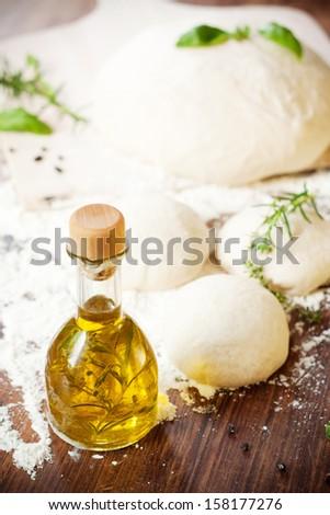 Fresh Homemade Yeast Dough - stock photo