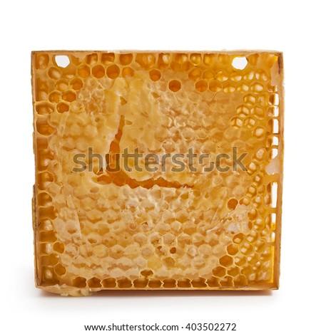Fresh honey isolated on white background  - stock photo