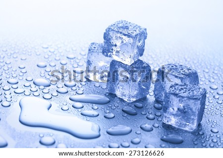 fresh ice cubes - stock photo