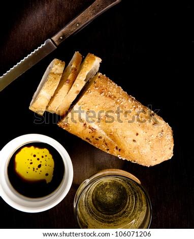 Fresh italian bread - stock photo