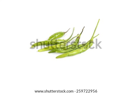 Fresh juicy green pepper isolated on a white background - stock photo