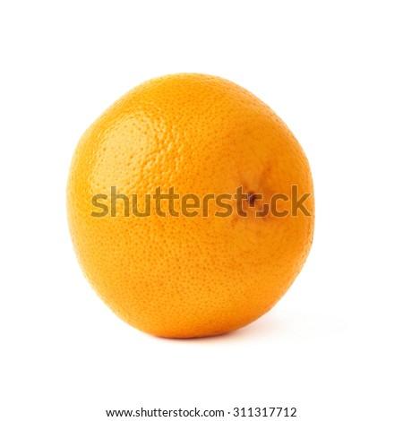 Fresh juicy ripe grapefruit isolated over the white background - stock photo