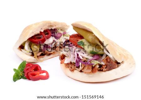 Fresh kebab - stock photo