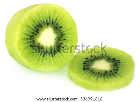 Fresh kiwi fruit over white background