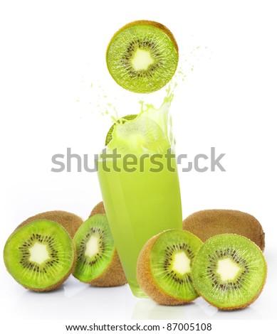 fresh kiwi juice - stock photo