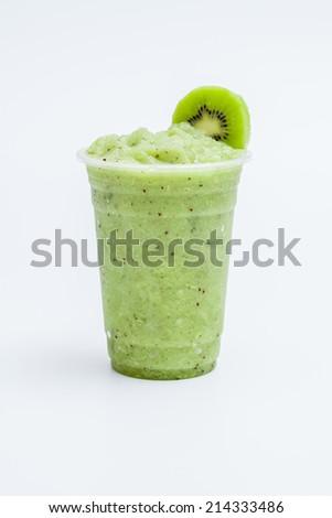 Fresh kiwi smoothie - stock photo