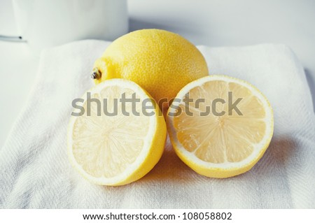 Fresh lemon - stock photo