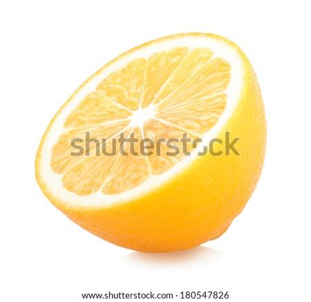 fresh lemon - stock photo
