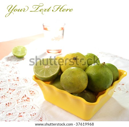 Fresh lemon and a glass of water