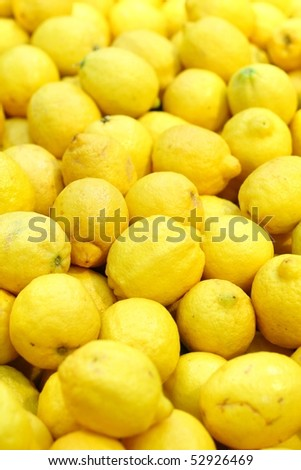 Fresh lemon in supermarket