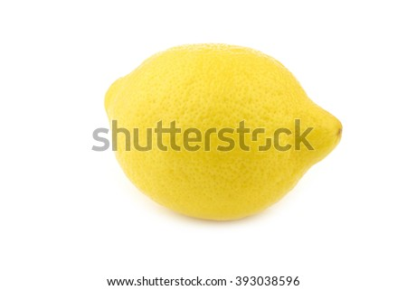 fresh lemon on a white background - stock photo