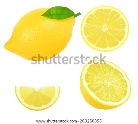fresh lemon slice on white background stock photo edit now