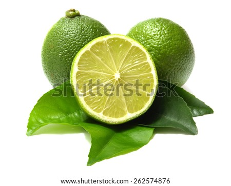 Fresh lime         - stock photo