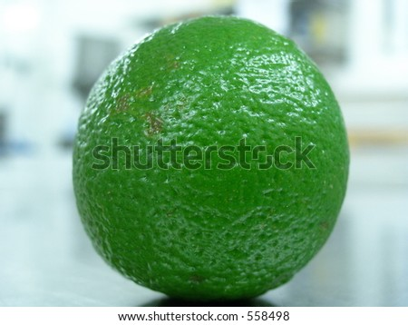 Fresh lime in kitchen