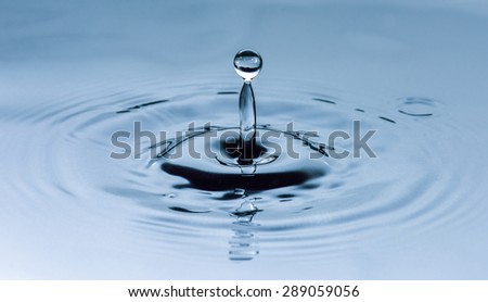 Fresh liquid concept from water drop photo for background - stock photo