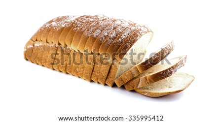 Fresh loaf of bread isolated on a white background - stock photo