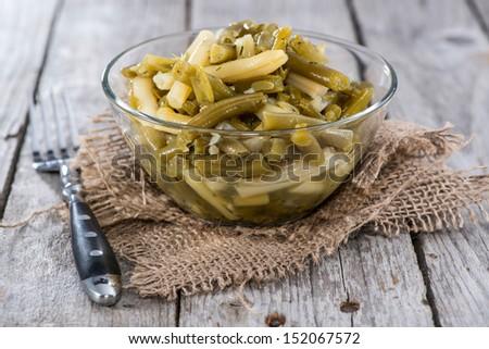 Fresh made Green Bean salad - stock photo