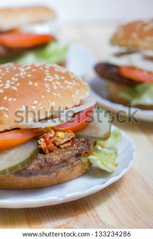 fresh made Hamburgers