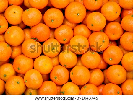Fresh mandarin oranges texture - stock photo