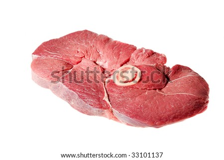 fresh meat isolated on the white background
