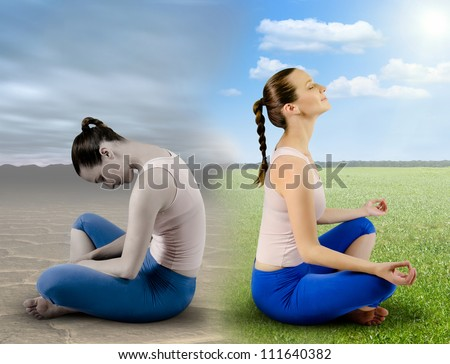 Fresh meditation - stock photo