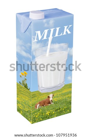 Fresh milk beverage carton - stock photo