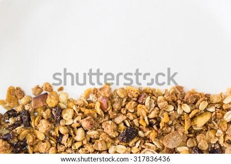 fresh muesli for texture - stock photo